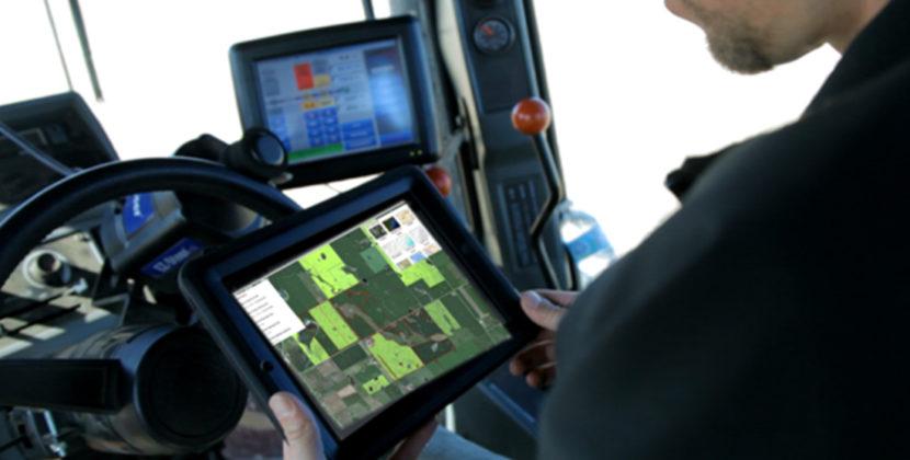 farmer using technology